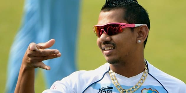 West Indies cricketer Sunil Narine attends the training session at The Sher-e-Bangla National Cricket Stadium in Dhaka on April 2, 2014.Sri Lanka plays West Indies on April 3 in the first semi-final of the ICC World Twenty20 cricket tournament in Dhaka. AFP PHOTO/ PUNIT PARANJPE        (Photo credit should read PUNIT PARANJPE/AFP/Getty Images)
