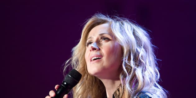 PRAGUE, CZECH REPUBLIC - MARCH 12: Lara Fabian, Belgian-Italian international singer who holds Canadian citizenship, performs during her concert on March 12, 2012 in Prague, Czech Republic. (Photo by Kuba Morc/isifa/Getty Images)