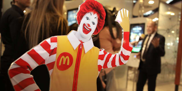 FRANKFURT AM MAIN, GERMANY - MARCH 30: A general view at the new McDonald's Flagship Restaurant at Frankfurt International Airport, Terminal 2, on March 30, 2015 in Frankfurt am Main, Germany.  (Photo by Hannelore Foerster/Getty Images)