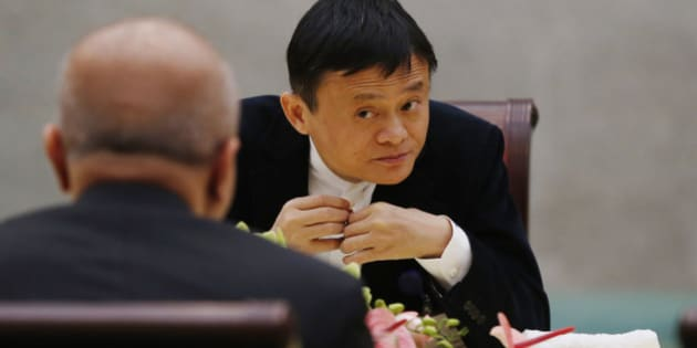 BEIJING, CHINA - MARCH 21:  (CHINA OUT) Jack Ma, Chairman of Alibaba attends China Development Forum 2015 at Diaoyutai State Guesthouse on March 21, 2015 in Beijing, China. China Development Forum 2015 was held with the theme of 'China's Economy in the 'New Normal'' at Diaoyutai State Guesthouse on Saturday in Beijing.  (Photo by ChinaFotoPress/ChinaFotoPress via Getty Images)