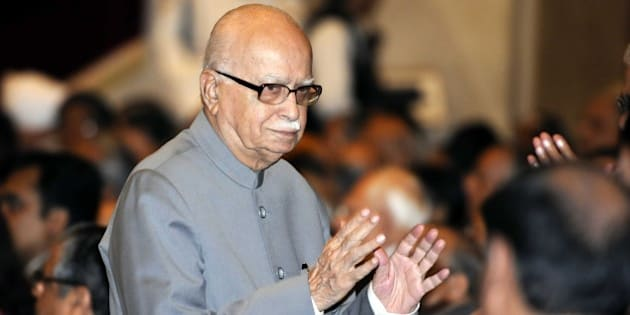 NEW DELHI, INDIA - SEPTEMBER 28: Senior BJP leader LK Advani during the swearing-in ceremony of Justice H L Dattu, at Rashtrapati Bhavan on September 28, 2014 in New Delhi, India. Dattu was administered the oath of office by President Pranab Mukherjee. He is the 42nd Chief Justice of India and will be at the helms of the Indian judiciary till December 2, 2015. He succeeds Chief Justice RM Lodha who demitted office September 27. (Photo By Sonu Mehta/Hindustan Times via Getty Images)