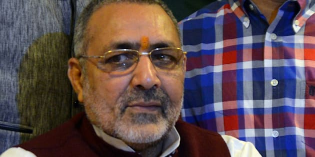 NEW DELHI, INDIA  November 11: Giriraj Singh after taking charge as Minister of State for Micro, Small and Medium Enterprises in New Delhi.(Photo by Praveen Negi/India Today Group/Getty Images)