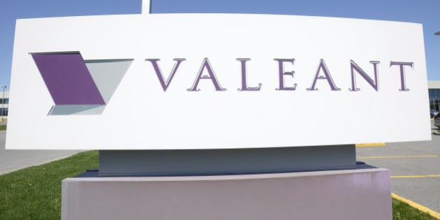 The sign of Valeant Pharmaceutical is pictured at its head office in Montreal on Monday May 27, 2013. Valeant announced an agreement Monday to buy Bausch + Lomb Holdings for US$8.7-billion in cash in a deal that will boost the Canadian drug maker's presence in the eye-care sector. THE CANADIAN PRESS/Ryan Remiorz