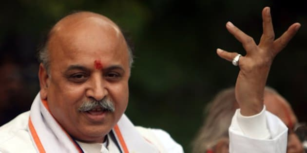 NEW DELHI, INDIA - NOVEMBER 24: VHP Leader Pravin Togadia addressing a press conference on the Liberhan report in New Delhi on Tuesday, November 24, 2009. (Photo by Shekhar Yadav/India Today Group/Getty Images)