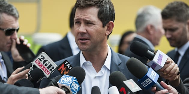 SYDNEY, AUSTRALIA - NOVEMBER 06:  Ricky Ponting speaks to the media during the ICC 2015 Cricket World Cup 100 days to go announcement on November 6, 2014 in Sydney, Australia.  (Photo by Brett Hemmings/Getty Images)