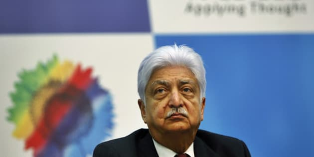 Wipro Ltd. Chairman Azim Premji attends a press conference after announcing the company's quarterly financial results at their headquarters in Bangalore, India, Friday, Jan. 20, 2012. Indian outsourcing company Wipro reported 10 percent growth in December quarter profit, beating expectations thanks to a weak rupee and stable demand. (AP Photo/Aijaz Rahi)