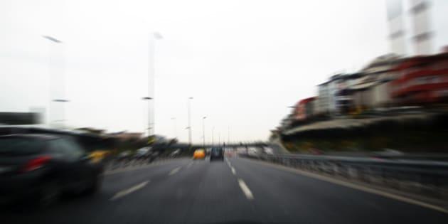 Speed driving traffic.