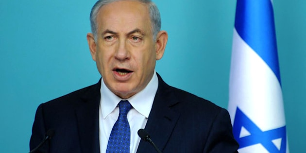 Israel's Prime Minister Benjamin Netanyahu makes statements during a press conference at the prime minister's office in Jerusalem, Wednesday, April 1, 2015. (AP Photo/Debbie Hill, Pool)