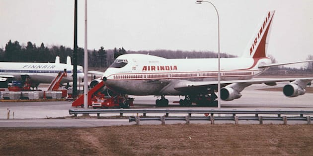 """A Blast from the Past -Air India's 747-200B """"Samudra Gupta"""" sits at one of the remote gates at YMX preparing for it's long journey to Mumbai in May 1983. Finnair's DC-10 is in the background."""