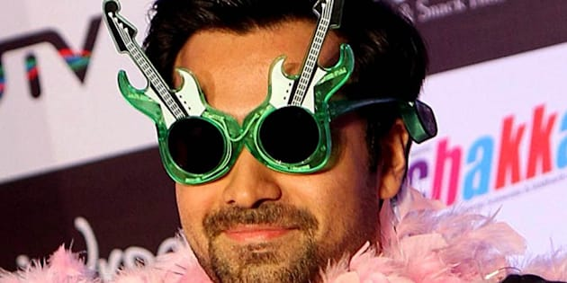 Indian Bollywood actor Emraan Hashmi poses during a promotional party for the forthcoming Hindi film 'Ghanchakkar'  in Mumbai on June 15, 2013. AFP PHOTO/STR        (Photo credit should read STRDEL/AFP/Getty Images)