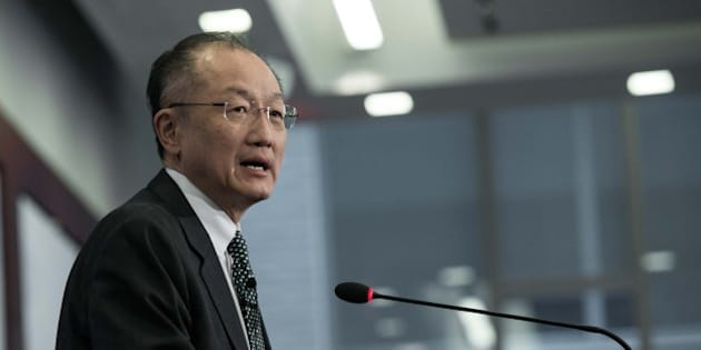 World Bank President Jim Yong Kim arrives to deliver a speech at the Center for Strategic and International Studies (CSIS) in Washington, DC, on April 7, 2015. Kim shared his vision on what needs to be done to end poverty.  AFP PHOTO/NICHOLAS KAMM        (Photo credit should read NICHOLAS KAMM/AFP/Getty Images)