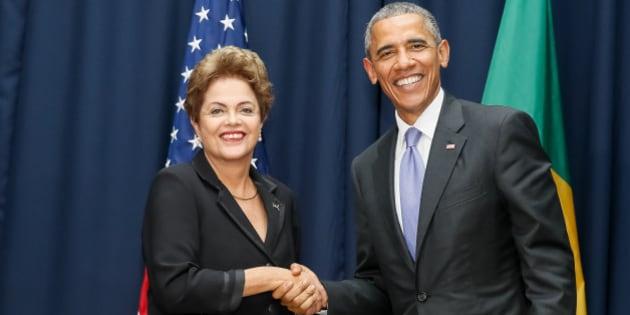 Resultado de imagem para dilma e obama