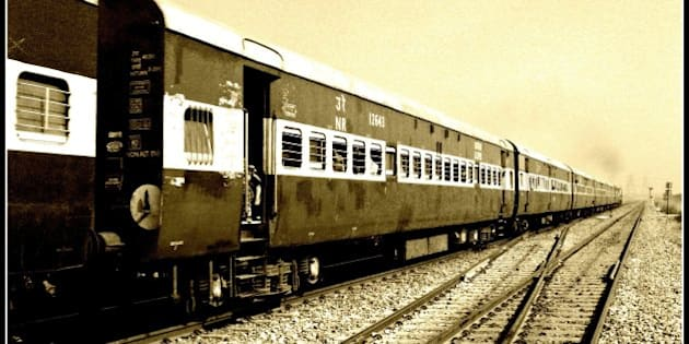 b/w version of the train (actually sepia!!)