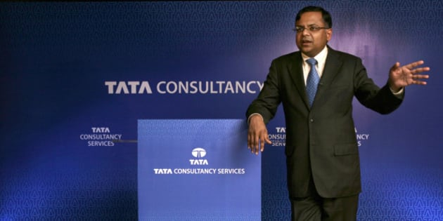 Tata Consultancy Services Chief Executive Officer Natarajan Chandrasekaran speaks at a press meet in New Delhi, India, Wednesday, Oct. 7, 2009. Chandrasekaran took over as TCS CEO on Tuesday, vowing to boost the global market share of India's largest outsourcing company. (AP Photo/Gurinder Osan)