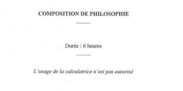 Le concours de l'ENS (Ecole Normale Supérieure) s'amuse avec la philosophie