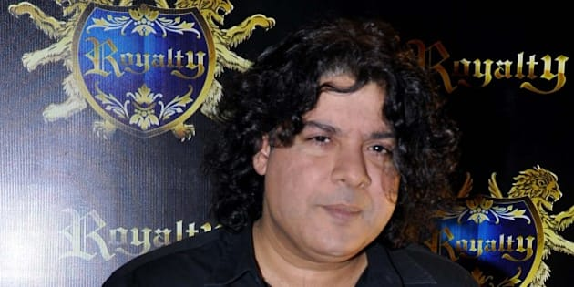 Indian Bollywood film director Sajid Khan attends the pre-wedding party of Indian Bollywood actors Ritesh Deshmukh and Genelia D'souza in Mumbai on January 24, 2012.  AFP PHOTO/STR (Photo credit should read STRDEL/AFP/Getty Images)