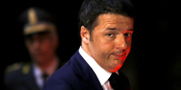 Italian Premier Matteo Renzi leaves the Italian Embassy to the Holy See at the end of a ceremony celebrating the anniversary of the 1929 Lateran Treaty (Patti Lateranensi) and the 1984 revision of the Concordat between Italy and Vatican, in Rome, Tuesday, Feb. 17, 2015. (AP Photo/Riccardo De Luca)