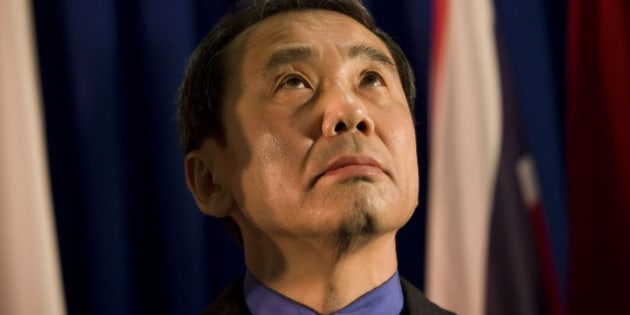 Novelist Haruki Murakami of Japan is seen before receiving the Jerusalem award during the International Book Fair in Jerusalem, Sunday, Feb. 15, 2009. (AP Photo/Bernat Armangue)