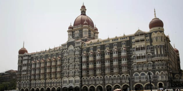 A view of the Taj Mahal hotel, which was one of the sites of the Mumbai terror attack, in Mumbai, India, Friday, April 10, 2015. A Pakistani court on Thursday, April 9, 2015, ordered the release of the main suspect Zaki-ur-Rehman Lakhvi in the 2008 Mumbai attacks for the second time in less than a month, a defense lawyer said. (AP Photo/Rajanish Kakade)