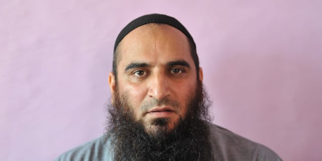This file photo shows Masarat Alam, a hardline Muslim separatist, in an undisclosed location.  On October 18, 2010 Alam, known for his fiery anti-India and pro-freedom speeches, was arrested by police in Srinagar, the summer capital of Indian-administered Kashmir. AFP PHOTO / STR (Photo credit should read STRDEL/AFP/Getty Images)