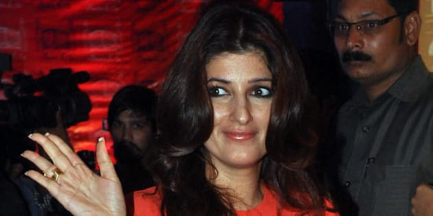 Indian Bollywood actress Twinkle Khanna poses as she attends the opening of a luxury boutique in Mumbai late December 18, 2013.   AFP PHOTO/STR        (Photo credit should read STRDEL/AFP/Getty Images)