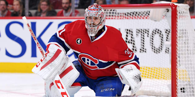 MONTREAL, QC - APRIL 15:  Carey Price #31 of the Montreal Canadiens watches play during Game One of the Eastern Conference Quarterfinals during of the 2015 NHL Stanley Cup Playoffs at the Bell Centre on April 15, 2015 in Montreal, Quebec, Canada.  The Canadiens defeated the Senators 4-3.  (Photo by Richard Wolowicz/Getty Images)