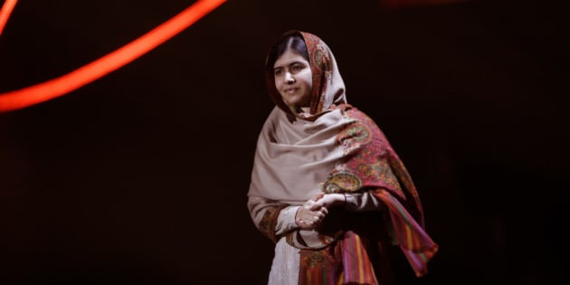 Joint-Nobel Peace Prize winner Malala Yousafzai from Pakistan arrives to speak on stage during the Nobel Peace Prize Concert in Oslo, Norway, Thursday, Dec. 11, 2014.  Malala Yousafzai from Pakistan and Kailash Satyarthi of India received the Nobel Peace Prize on Wednesday for risking their lives to help protect children from slavery, extremism and forced labor at great risk to their own lives.  (AP Photo/Matt Dunham)