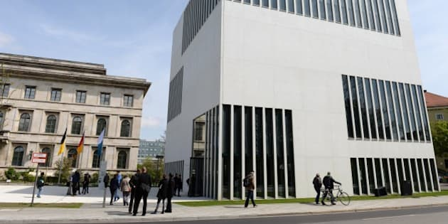 Outside view of the new Nazi museum in Munich, southern Germany, on April 29, 2015. Munich will open this museum on the former site of the Nazi party headquarters on April 30, 2015, in a long overdue reckoning with the German city's status as the 'home of the movement'. The inauguration coincides with the 70th anniversary of the 'liberation' of Munich by US troops at the end of World War II, and of Adolf Hitler's siucide the same day in a Berlin bunker. AFP PHOTO/CHRISTOF STACHE   i        (Photo credit should read CHRISTOF STACHE/AFP/Getty Images)