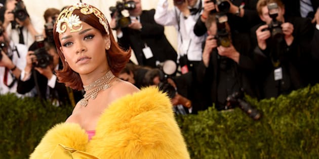 NEW YORK, NY - MAY 04:  Rihanna attends the 'China: Through The Looking Glass' Costume Institute Benefit Gala at the Metropolitan Museum of Art on May 4, 2015 in New York City.  (Photo by Larry Busacca/Getty Images)