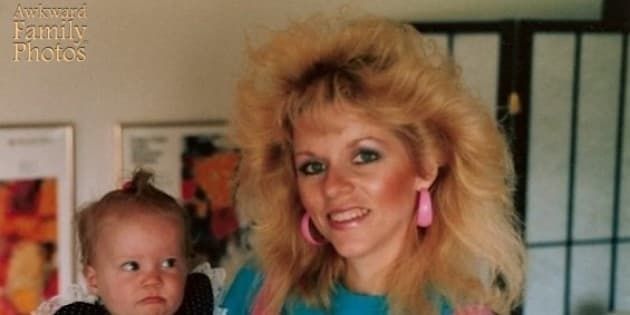 awkward family photos these moms totally owned the 80s huffpost