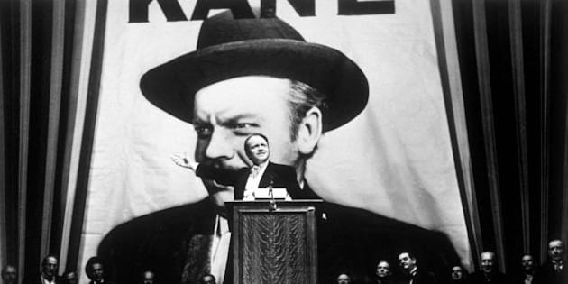 1941:  Orson Welles takes the lead role in his film 'Citizen Kane', directed by himself for RKO.  (Photo by Hulton Archive/Getty Images)