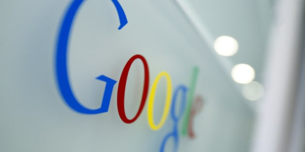 FILE - In this Tuesday, March 23, 2010, file photo, the Google logo is seen at the Google headquarters in Brussels. Google is about to change the way its influential search engine recommends websites on smartphones and tablets in a shift that's expected to sway where millions of people shop, eat and find information. The revised formula, scheduled to be released April 21, 2015. (AP Photo/Virginia Mayo, File)