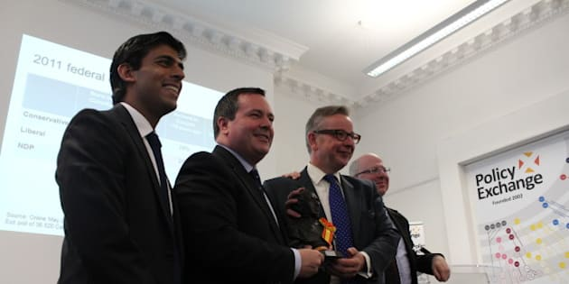 From left to right: Rishi Sunak, Head of Policy Exchange's BME Research Unit, Hon Jason Kenney MP, Rt Hon Michael Gove MP and Dean Godson, Policy Exchange Director
