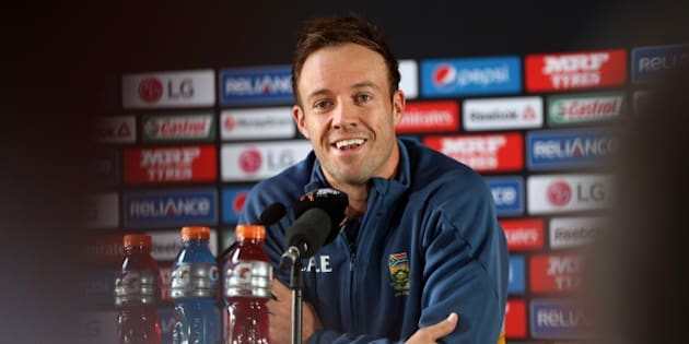South Africa's captain AB de Villiers speaks to the media ahead of their 2015 Cricket World Cup semi final match against South Africa at Eden Park in Auckland on March 23, 2015.  AFP PHOTO / Michael Bradley        (Photo credit should read MICHAEL BRADLEY/AFP/Getty Images)