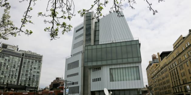 A view of the westside exterior of  the new $422 million Renzo Piano-designed Whitney Museum of American Art, Thursday, April 30, 2015, in New York. First lady Michelle Obama attended the ribbon-cutting ceremony for the museum Thursday. (AP Photo/Bebeto Matthews)