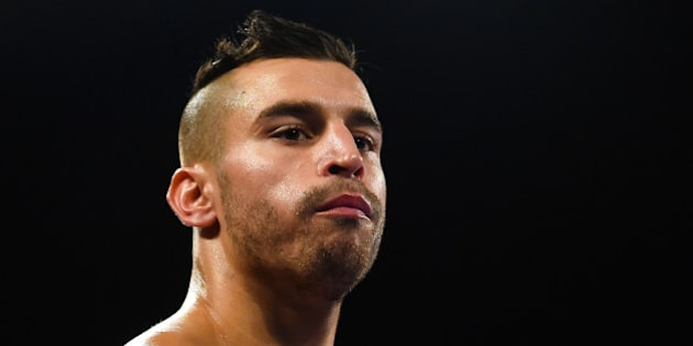 NEW YORK, NY - DECEMBER 06:  David Lemieux looks on before a NABF MIddleweight title fight against Gabriel Rosado at the Barclays Center on December 6, 2014 in the Brooklyn Borough of New York City.  (Photo by Alex Goodlett/Getty Images)