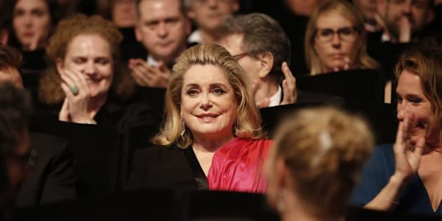 French actress Catherine Deneuve attends the opening ceremony of the 68th Cannes Film Festival in Cannes, southeastern France, on May 13, 2015.  AFP PHOTO / VALERY HACHE        (Photo credit should read VALERY HACHE/AFP/Getty Images)