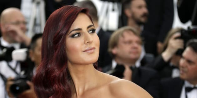 Katrina Kaif arrives for the opening ceremony and the screening of the film La Tete en Haut (Standing Tall) at the 68th international film festival, Cannes, southern France, Wednesday, May 13, 2015. (Photo by Joel Ryan/Invision/AP)
