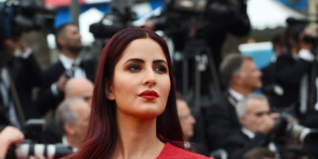British-Indian actress Katrina Kaif poses as she arrives for the screening of the film 'Mad Max : Fury Road' during the 68th Cannes Film Festival in Cannes, southeastern France, on May 14, 2015.      AFP PHOTO / ANNE-CHRISTINE POUJOULAT        (Photo credit should read ANNE-CHRISTINE POUJOULAT/AFP/Getty Images)