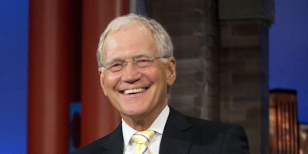 "FILE - In this May 4, 2015 file photo, host David Letterman smiles during a break at a taping of  ""The Late Show with David Letterman,"" at the Ed Sullivan Theater in New York. After 33 years in late night and 22 years hosting CBS' ""Late Show,"" Letterman will retire on May 20. (AP Photo/Pablo Martinez Monsivais, File)"