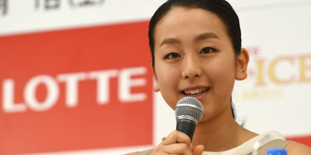 Japanese figure skating star Mao Asada answers a question while attending 'The Ice,' a summer ice show's press conference in Tokyo on May 18, 2015. Asada wrote on her blog earlier about returning to the competition.       AFP PHOTO / TOSHIFUMI KITAMURA        (Photo credit should read TOSHIFUMI KITAMURA/AFP/Getty Images)