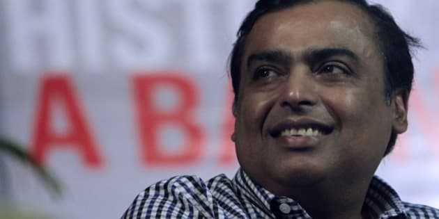 Reliance Industries Managing Director  Mukesh Ambani looks on during a book release function in Mumbai, India, Tuesday, June 17, 2010. (AP Photo/Rajanish Kakade)