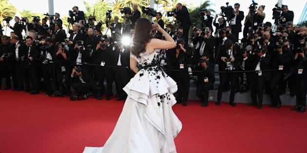 CANNES, FRANCE - MAY 20:  Aishwarya Rai Bachchan attends the Premiere of 'Youth' during the 68th annual Cannes Film Festival on May 20, 2015 in Cannes, France.  (Photo by Andreas Rentz/Getty Images)