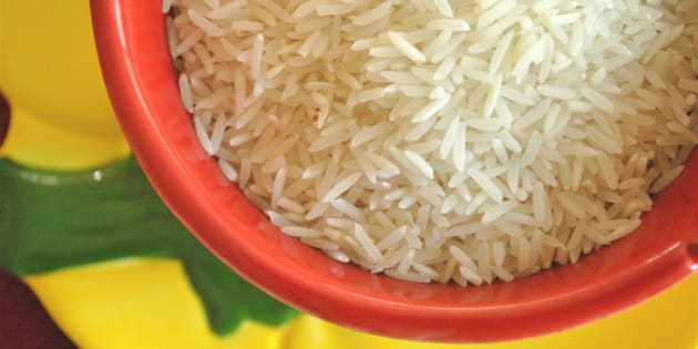 Basmati rice ready to be used in your favorite dish. I used mine in a Long-Grain Thyme Rice