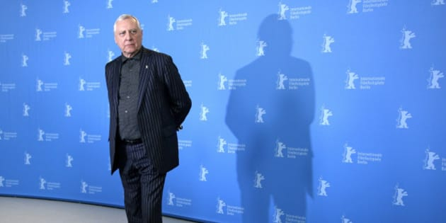 Director Peter Greenaway poses for photographers at the photo call for the film Eisenstein in Guanajuato at the 2015 Berlinale Film Festival in Berlin, Wednesday,Feb. 11, 2015. (AP Photo/Michael Sohn)