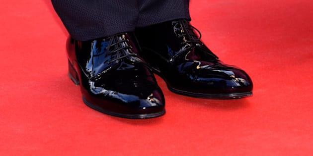 CANNES, FRANCE - MAY 21:  Jacques Audiard, shoe details, attends the Premiere of 'Dheepan' during the 68th annual Cannes Film Festival on May 21, 2015 in Cannes, France.  (Photo by Clemens Bilan/Getty Images)