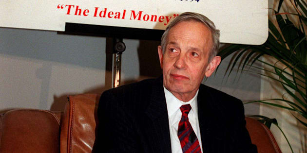 "FILE - In this Oct. 28, 1997 file photo, John Forbes Nash, 1994 Economics Nobel Prize winner, takes a break during the European School of Economics conference in Rome. Nash, the Nobel Prize-winning mathematician whose struggle with schizophrenia was chronicled in the 2001 movie ""A Beautiful Mind,"" died in a car crash along with his wife in New Jersey on Saturday, May 23, 2015, police said. (AP Photo/Plinio Lepri, File)"