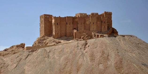 A general view taken on May 18, 2015 shows the castle of the ancient Syrian city of Palmyra, a day after Islamic State (IS) group jihadists fired rockets into the city and killing five people. Fierce clashes have rocked Palmyra's outskirts since IS launched an offensive on May 13 to capture the 2,000-year-old world heritage site nicknamed 'the pearl of the desert'.  AFP PHOTO /STR        (Photo credit should read STR/AFP/Getty Images)