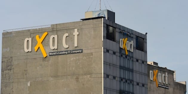 In this picture shows the building of Axact company after the raid by Federal Investigation Agency (FIA) in Rawalpindi on May 19, 2015. Pakistani investigators Tuesday carried out raids on a firm accused of running a global fake degree empire, officials said, confiscating computers and holding employees for questioning as the scandal deepened. AFP PHOTO / Farooq NAEEM        (Photo credit should read FAROOQ NAEEM/AFP/Getty Images)