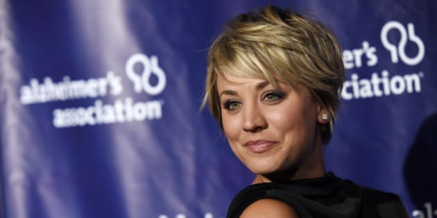 "Actress Kaley Cuoco poses at the 23rd Annual ""A Night at Sardi's"" event to benefit the Alzheimer's Association, at the Beverly Hilton Hotel on Wednesday, March 18, 2015, in Beverly Hills, Calif. (Photo by Chris Pizzello/Invision/AP)"